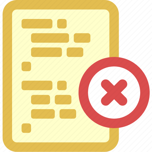 code, delete icon