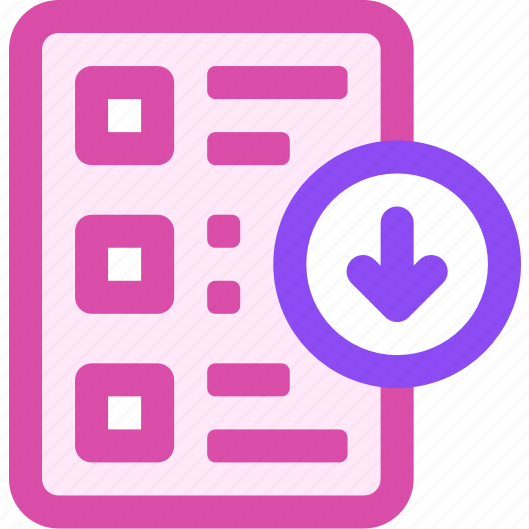 download, list icon