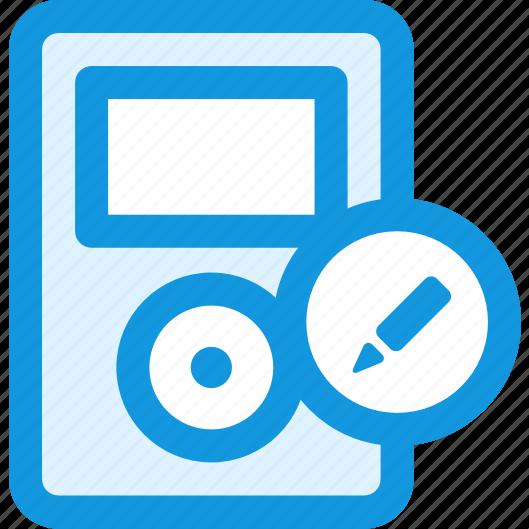 edit, music icon