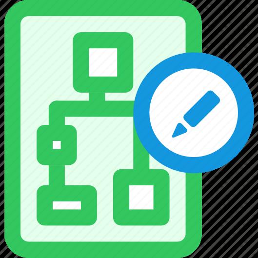edit, network icon