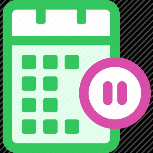 Blank Calendar Icon Green : Calendar pause sync icon search engine
