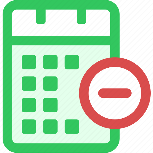 calendar, from, remove icon