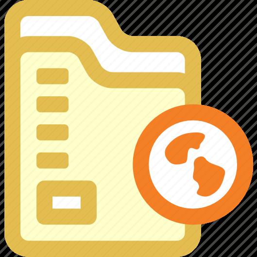 folder, link, web icon