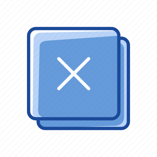 duplicate file, multiply, remove, wrong sign icon