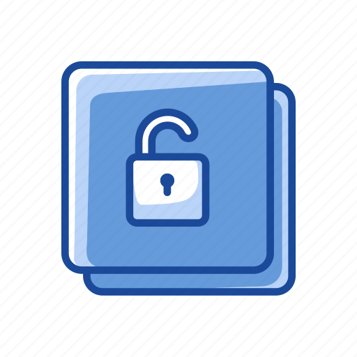 file open, files, padlock, security icon