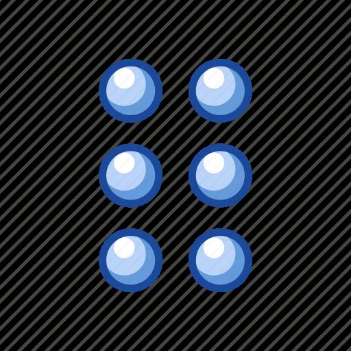 circles, edit tool bar, notification, settings icon