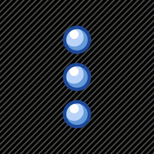 circles, edit tool bar, notifications, settings icon