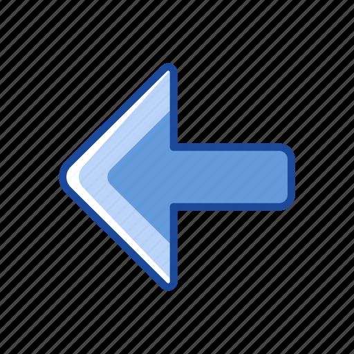 arrow, back button, navigate, remote icon