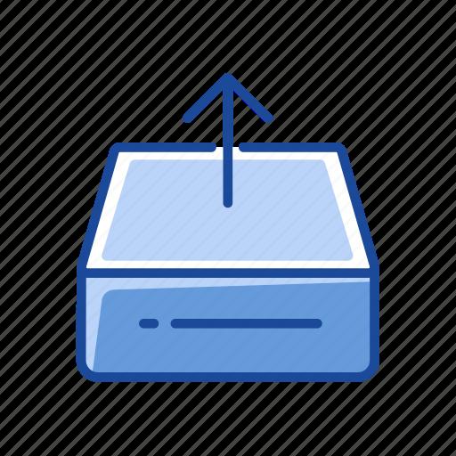 disk, hard drive, upload, upload files icon