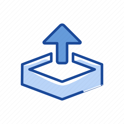 Arrow, arrow up, disk, file icon - Download on Iconfinder