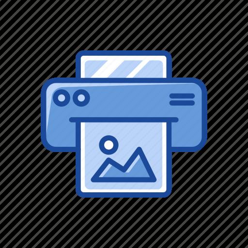 document, print photo, printer, scanner icon