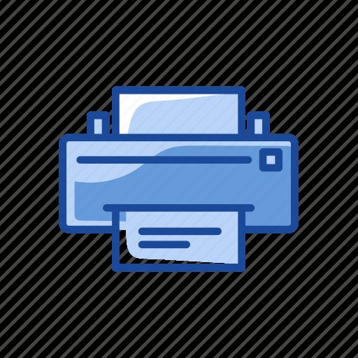 document, print document, printer, scanner icon