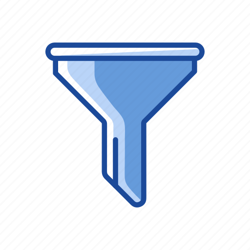 filter, funnel, liquid filter, solid funnel icon