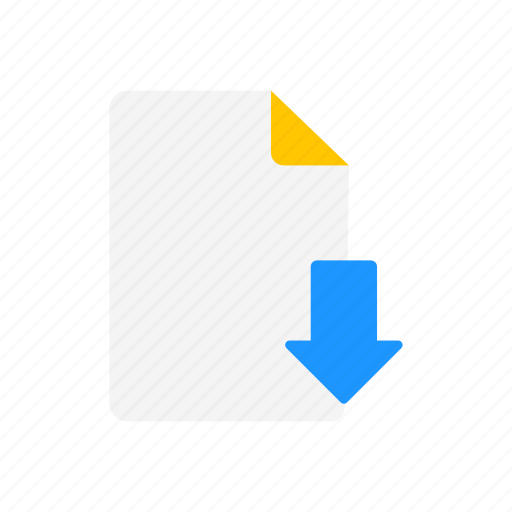 arrow, download, download file, note icon