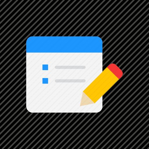 create post, pencil, write, write journal icon