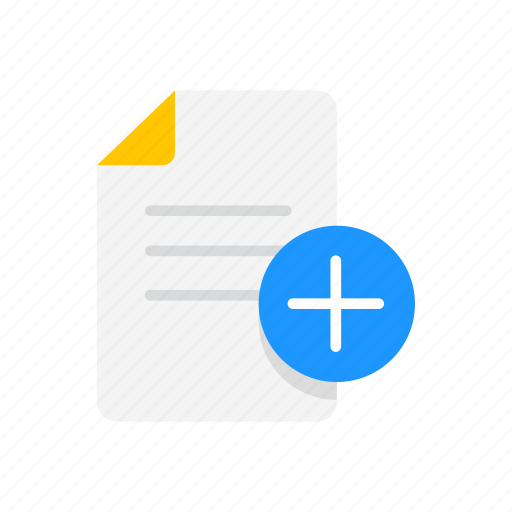 add file, add note, documents, plus icon