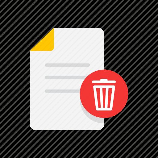 delete text, erase note, note, trash bin icon