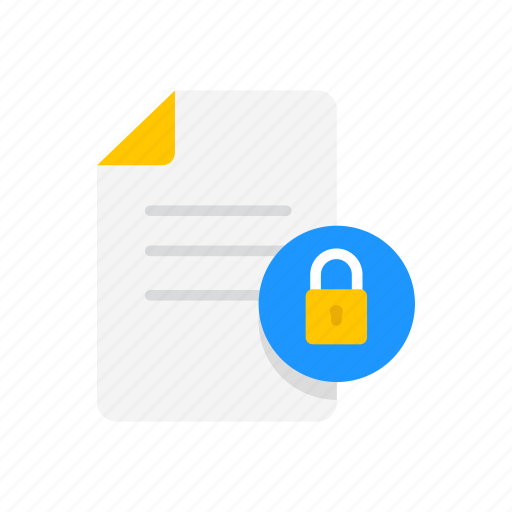 file, file locked, note, secure file icon