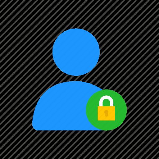 avatar, locked user, profile, secure user icon