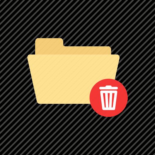 delete folder, folder, trash can, trash file icon