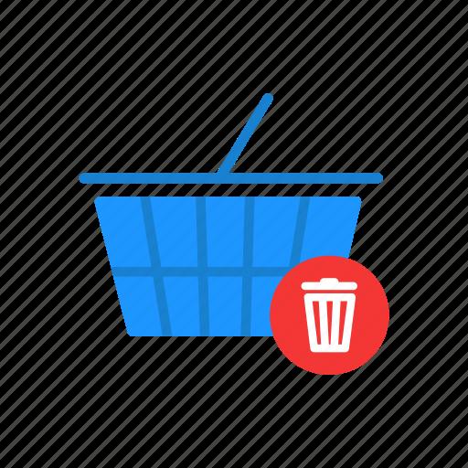 cart, delete cart, delete item, online shopping icon