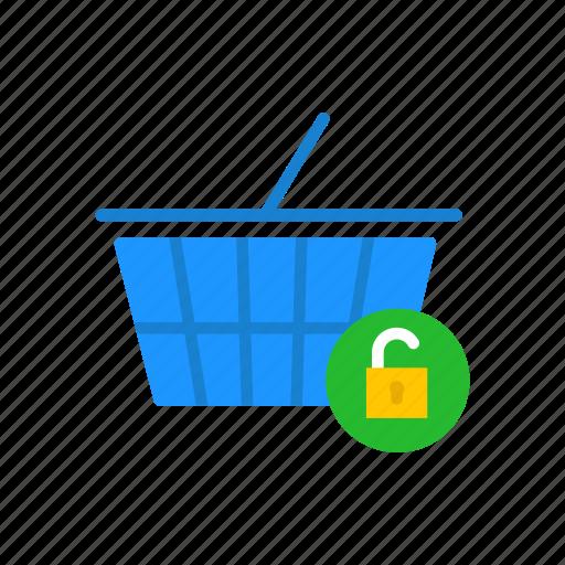 basket, cart, shopping, unlock item icon