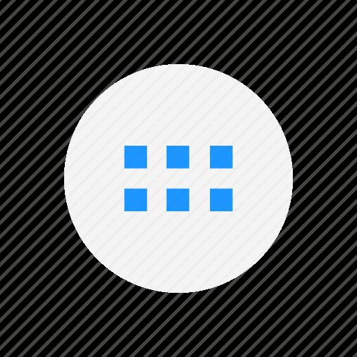 circle, notification, settings, squares icon