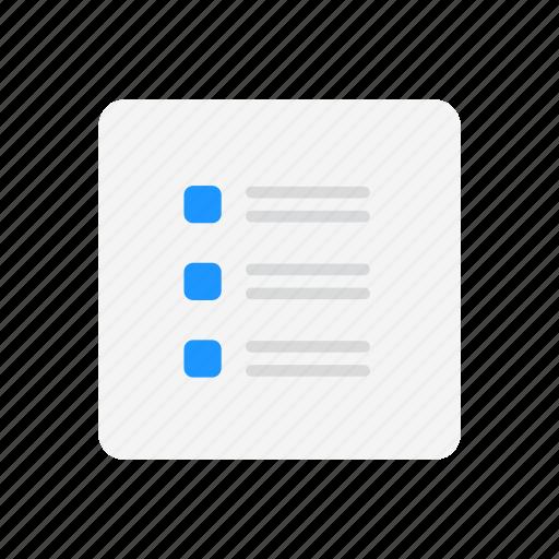 checklist, journal, note, to do list icon