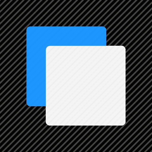 duplicate, duplicate file, square, transfer file icon