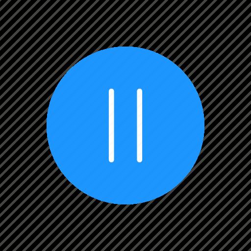 pause, pause button, play button, plug icon