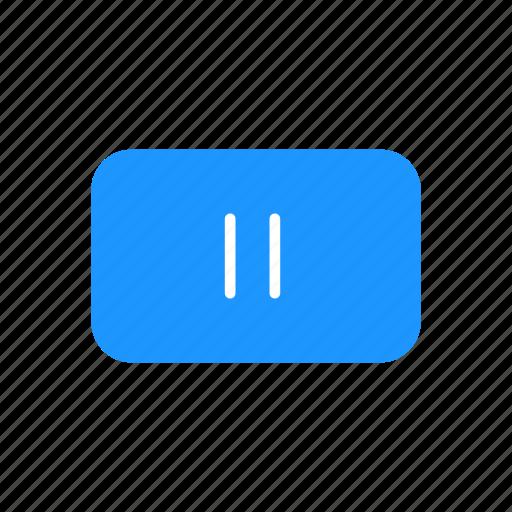 pause, pause button, plug, stop icon