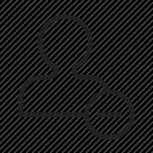 Friend, remove icon - Download on Iconfinder on Iconfinder