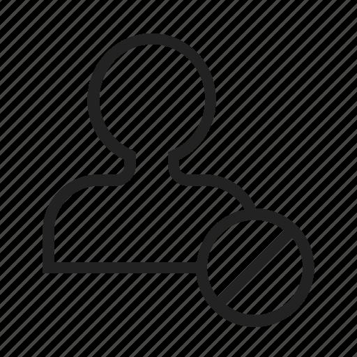 block, friend icon