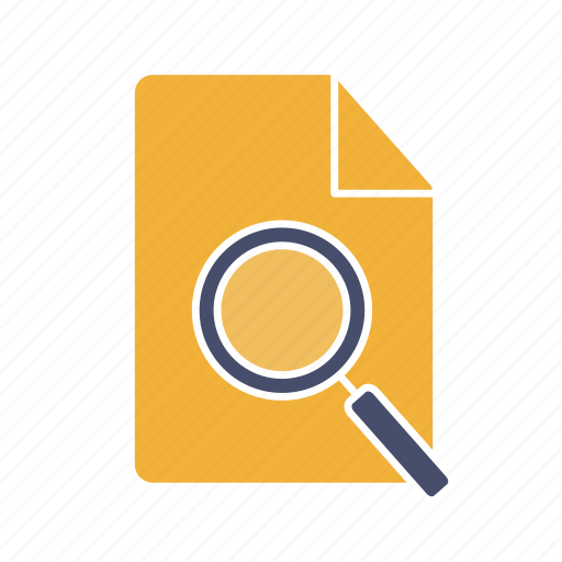 Doc, document, file, magnifier, page, search, sheet icon - Download on Iconfinder
