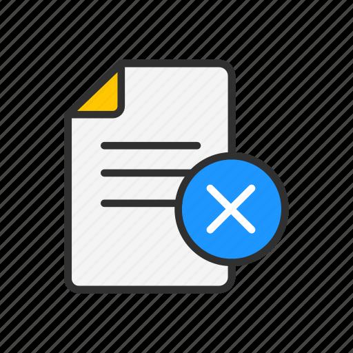 delete, delete document, document, remove icon