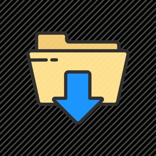 download, download file, files, folder icon