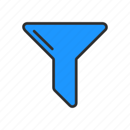 filter, funnel, sales funnel, sort icon