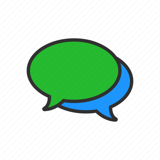 chat, inbox, message, word bubble icon