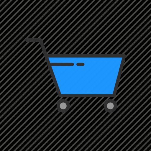 cart, ecommerce, push cart, shopping cart icon
