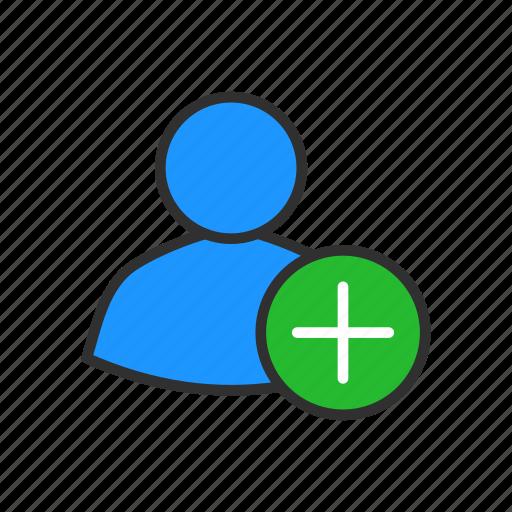 add client, add customer, add user, user profile icon
