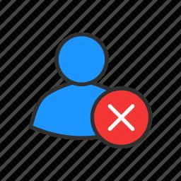 delete client, error, remove contact, user profile icon