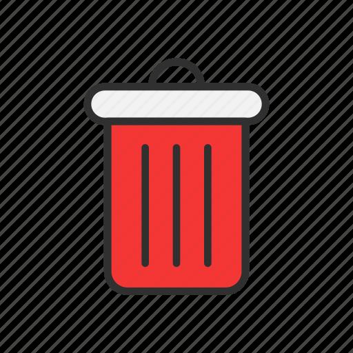 delete, junk, trash, trash bin icon