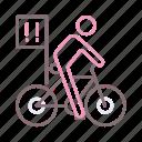 alert, critical, cycle, mass icon