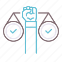 equal, fair, rights, scale icon