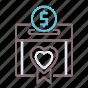 box, fundraising, money icon