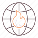 global, heat, warming icon