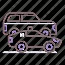 car, carcade, convoy, motorcade icon