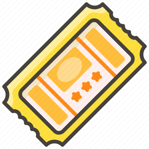 1f39f, a, admission, tickets icon