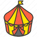 1f3aa, a, circus, tent