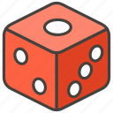 1f3b2, dice, game icon